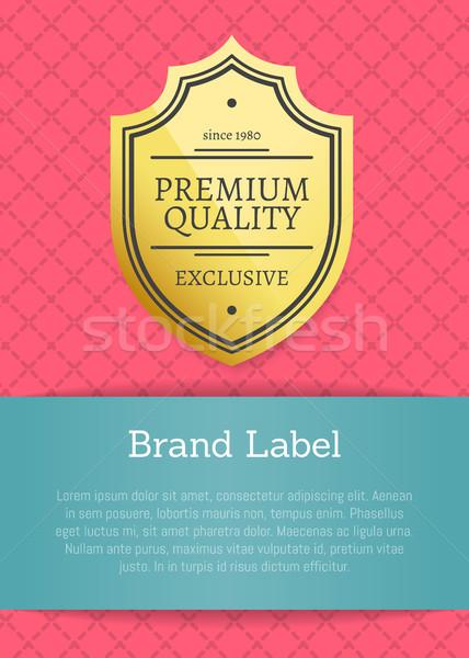 Premium Quality Brand Label Vector Illustration Stock photo © robuart
