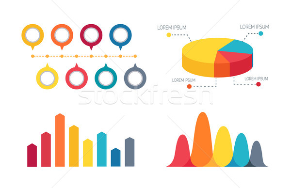 Pie Chart and Bar Graphs Vector Illustration Stock photo © robuart