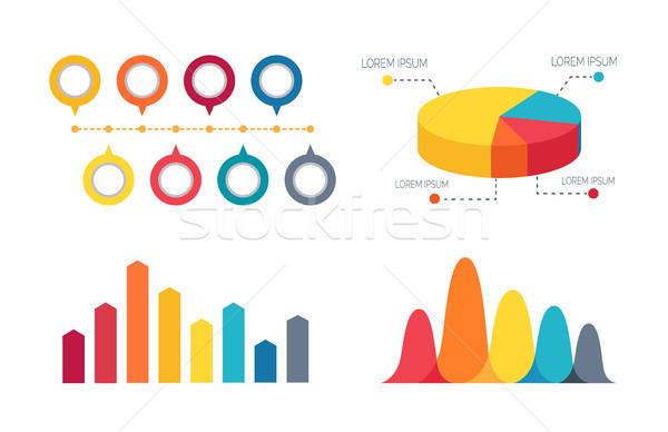Bar graphiques coloré quatre deux Photo stock © robuart