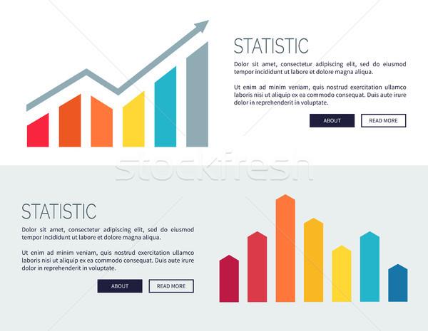 Statystyczny plakaty rozwój finansowych wykresy Zdjęcia stock © robuart
