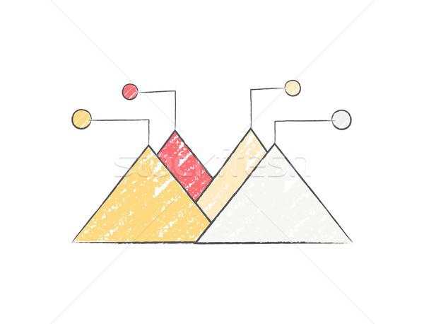 Diagrama dados forma quatro colorido elemento Foto stock © robuart