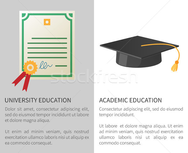 University Academic Education Poster with Licence Stock photo © robuart