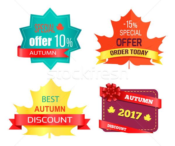 Najlepszy sprzedaży jesienią zniżka kup teraz hot Zdjęcia stock © robuart