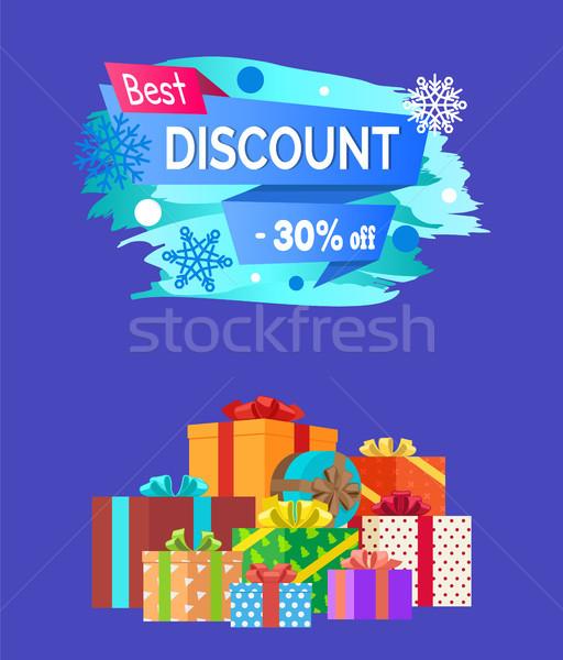 Best korting advertentie tekst geschreven promo Stockfoto © robuart