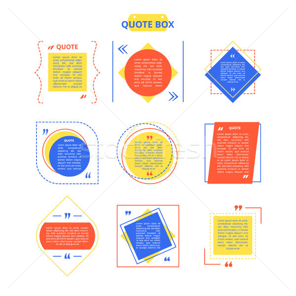Quote Box Sample on Vector Illustration Colorful Stock photo © robuart
