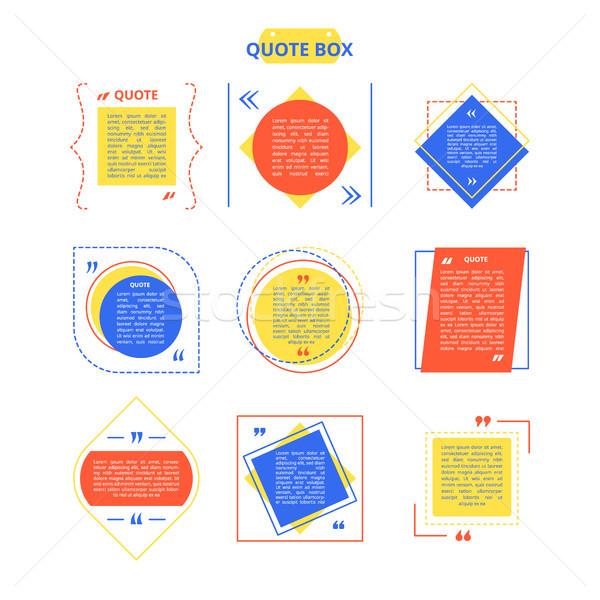 引用 ボックス サンプル カラフル 異なる 幾何学的な ストックフォト © robuart