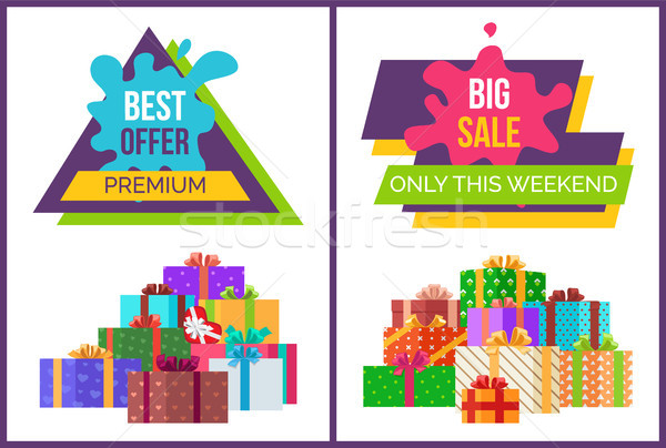Big Sale Only for This Weekend Promotional Poster Stock photo © robuart