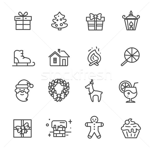 Set of Cute Transparent Icons Vector Illustration Stock photo © robuart