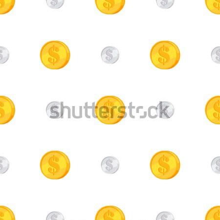 Golden and Silver Coins with Dollar Sign Isolated Stock photo © robuart