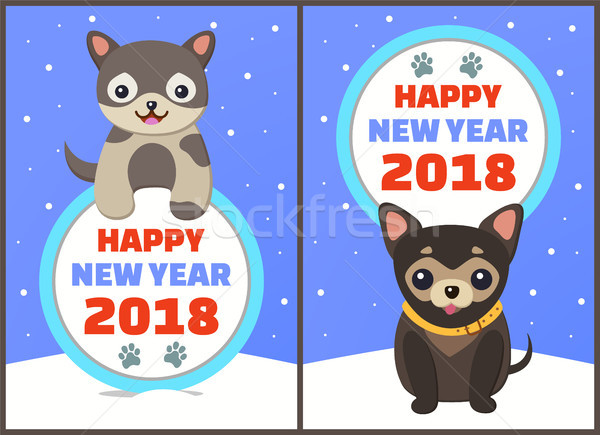 Happy New Year Collection Vector Illustration Stock photo © robuart