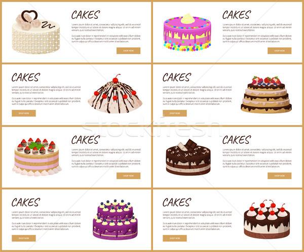 ケーキ を ショップ ウェブ ストックフォト © robuart