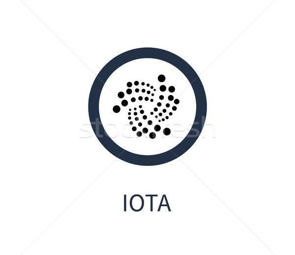 Iota Cryptocurrency Icon Title Vector Illustration Stock photo © robuart