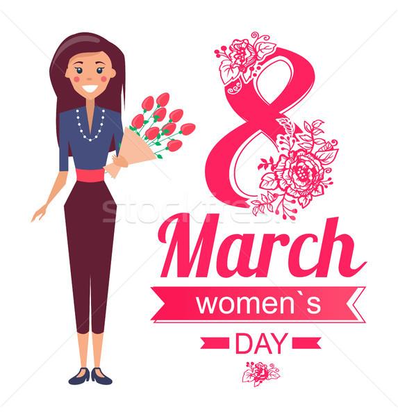 Mujeres día anunciante mujer vector día de la mujer Foto stock © robuart
