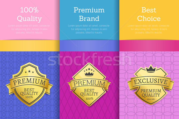 100 Quality Premium Brand Quality Best Labels Stock photo © robuart