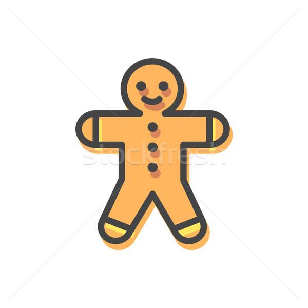 Gingerbread man Noel kurabiye bisküvi form erkek Stok fotoğraf © robuart