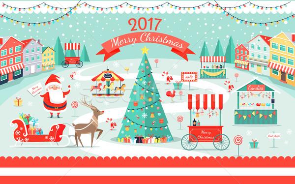 Allegro Natale grande fiera promo Foto d'archivio © robuart