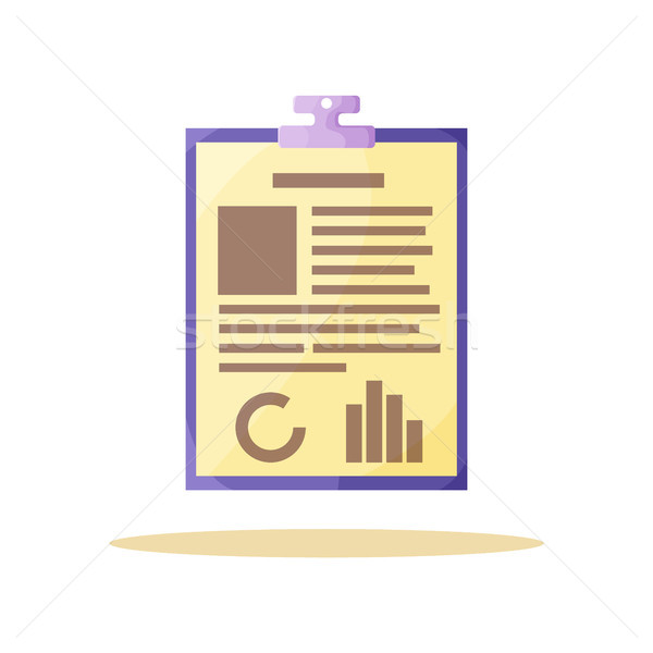 Yellow Information Paper Card Vector Illustration Stock photo © robuart