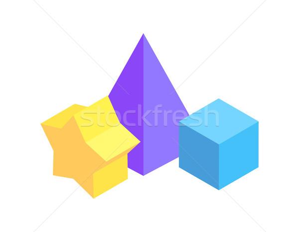 Geometric Figures Group, Color Vector Illustration Stock photo © robuart