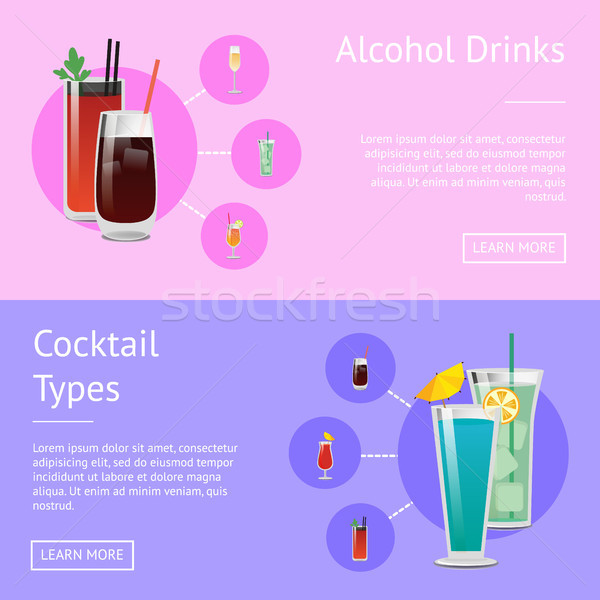 Alcohol Drinks Cocktail Types Posters Bloody Mary Stock photo © robuart