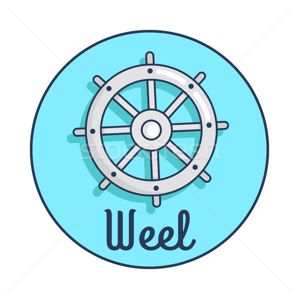 Banner with Inscription Depicting Ship s Wheel Stock photo © robuart
