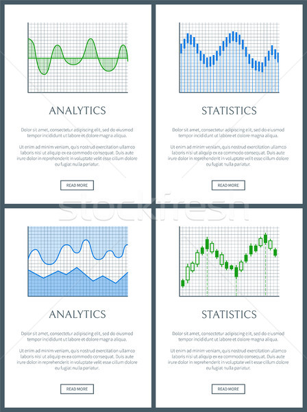 Analytics statistiques texte échantillon titre web Photo stock © robuart