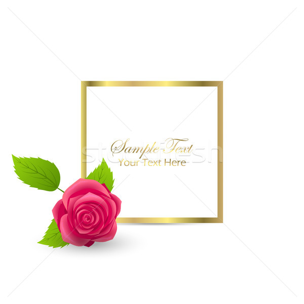 Cute félicitation carte postale rose fleurir bourgeon Photo stock © robuart