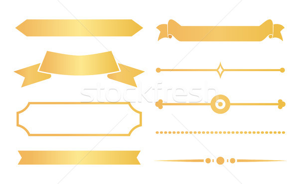 Gold Ribbons and Decor for Special Certificates Stock photo © robuart