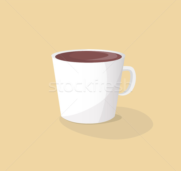 Small White Ceramic Cup of Hot Delicious Coffee Stock photo © robuart