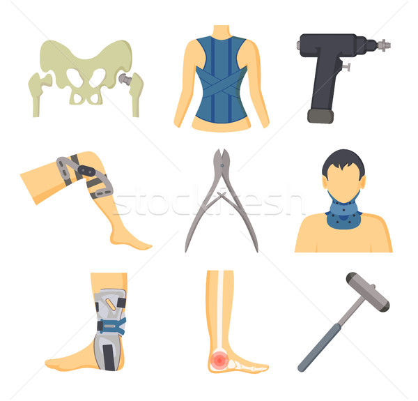Orthopedic Instruments and Equipment for Recovery Stock photo © robuart