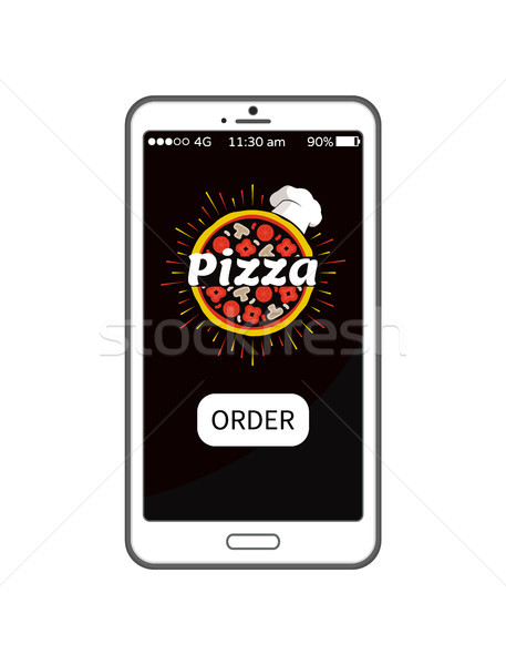 Pizza Order Application in Modern Device Banner Stock photo © robuart