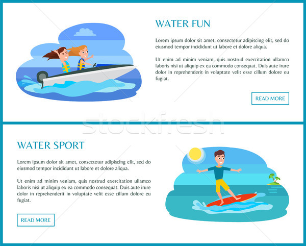 Water sport collectie web tekst Stockfoto © robuart