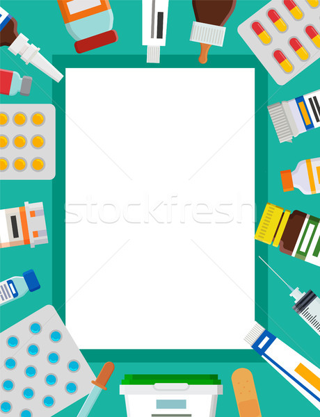 Drops and Medical Elements Set Vector Illustration Stock photo © robuart