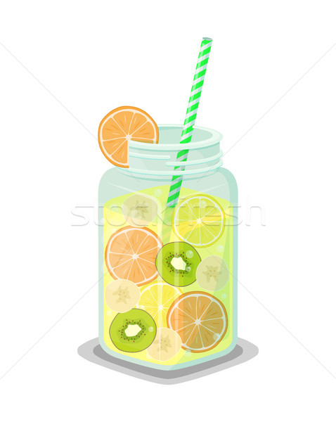 Mok drinken vers kiwi grapefruit Stockfoto © robuart