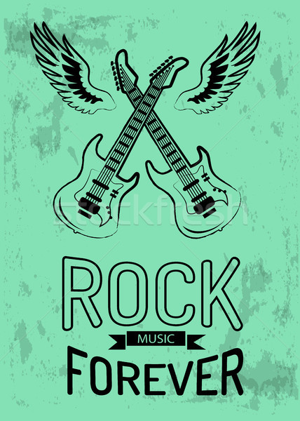 Rock Music Forever Icon Vector Illustration Stock photo © robuart