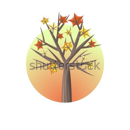 Maple Tree with Falling Leaves Stock photo © robuart