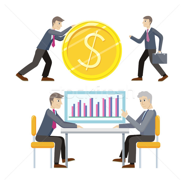 Сток-фото: инвестиции · бизнеса · вектора · стиль · человека