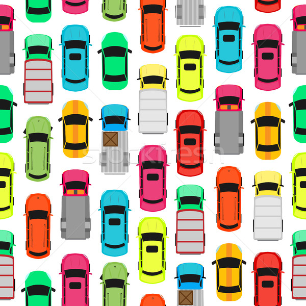 Seamless Pattern Cars on Parking. Endless Texture Stock photo © robuart
