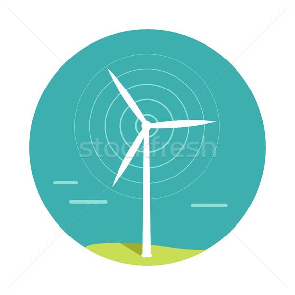 風力タービン デザイン ベクトル 代替案 エネルギー 技術 ストックフォト © robuart