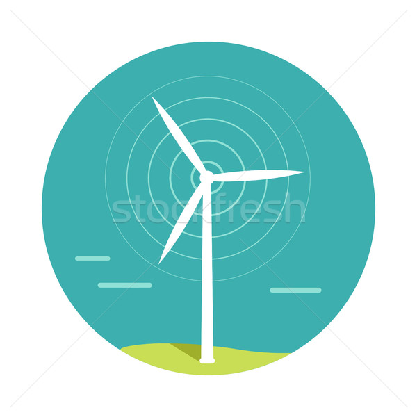 Szélturbina terv vektor alternatív energia technológia Stock fotó © robuart