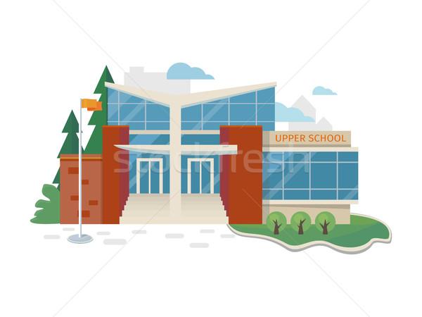 Migliore scuola costruzione vettore stile design Foto d'archivio © robuart