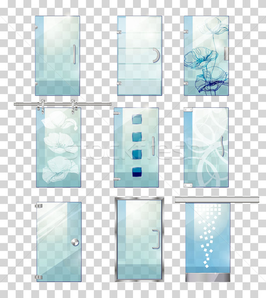 Ayarlamak çağdaş cam kapılar dizayn Stok fotoğraf © robuart