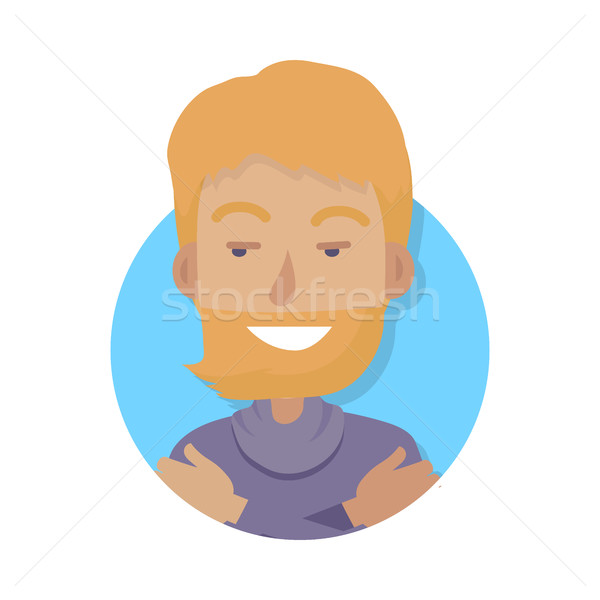 Smiling Man with Red Hair Hugging Himself Stock photo © robuart