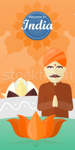 Welcome to India Travel Poster Stock photo © robuart