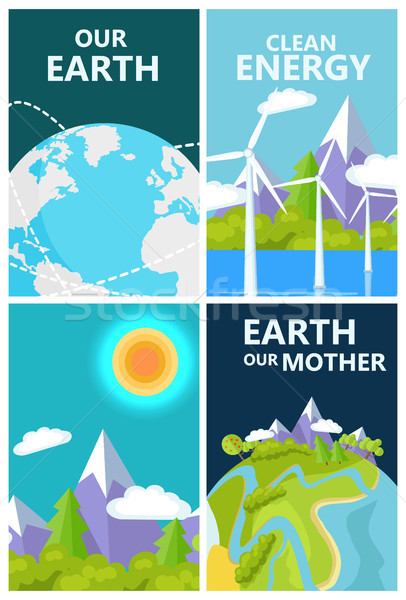 Clean Energy for Mother Earth Planet Protection Stock photo © robuart
