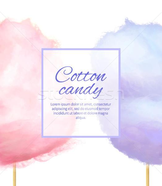 Cotone candy banner dolce zucchero forma Foto d'archivio © robuart