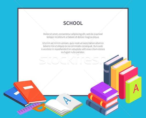Kitaplar ayakta vektör okul Stok fotoğraf © robuart