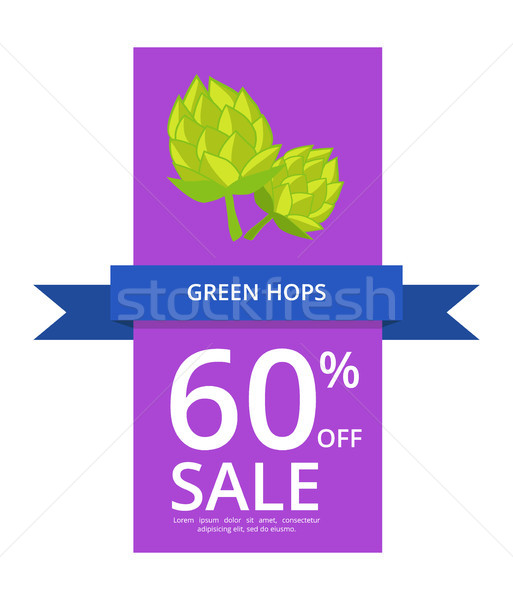 Green Hops 60 Off Sale on Vector Illustration Stock photo © robuart