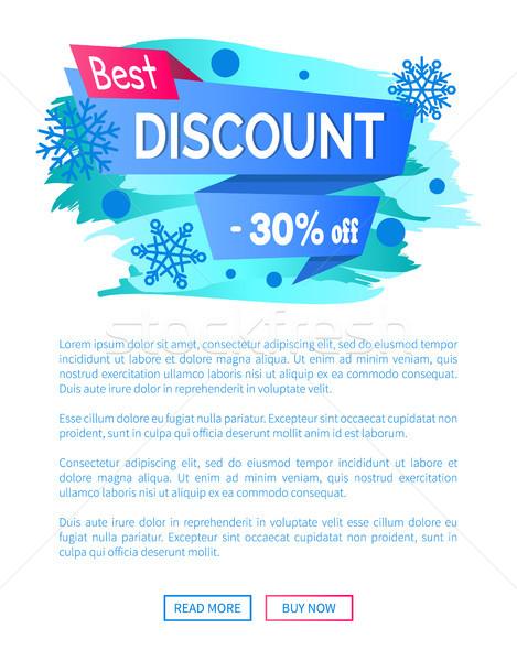 O melhor desconto 30 inverno venda Foto stock © robuart