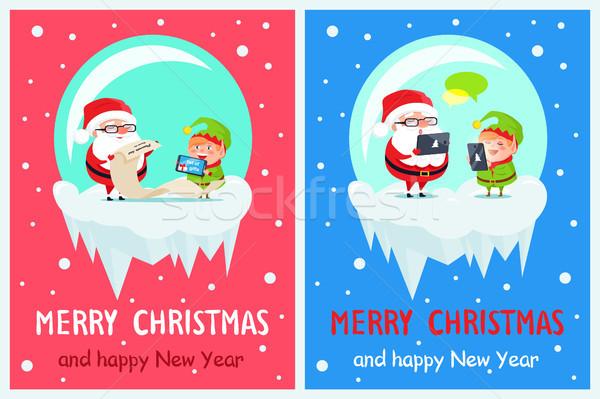 Merry Christmas Job of Santa Vector Illustration Stock photo © robuart