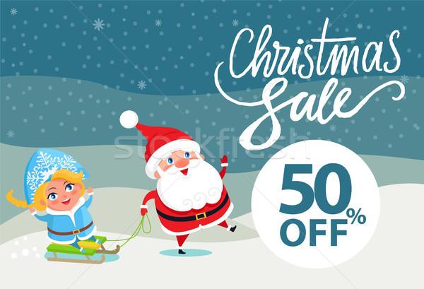 Final natal venda férias desconto 50 Foto stock © robuart